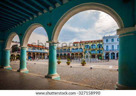the old square or plaza vieja...