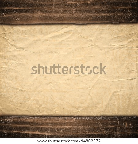 The old texture of a paper, is decorated in grunge style. Background in style vintage