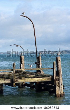 The old Titanic wooden pier in Cobh. County Cork, Ireland