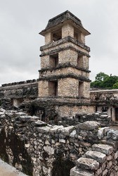 The old tower on the ruins of Palenque - Mexico