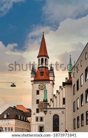 The Old Town Hall (German Altes Rathaus), until 1874 the domicile of the municipality, serves today as a building for representative purposes for the city council in Munich. Stock photo ©