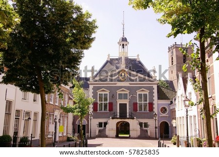 The old town hall of Middelharnis in the Netherlands