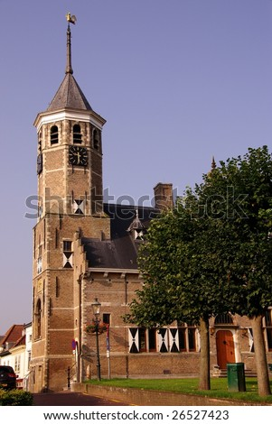 The old town hall of Willemstad in the Netherlands - stock photo