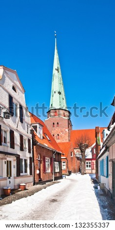 The old town of Travemuende in the north of Germany