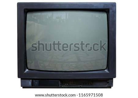The old TV on the isolated #1165971508