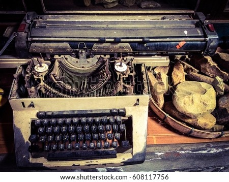 The old type writer #608117756