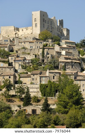 The old village of La Coste in France. In the castle once lived the well known Marquis de Sade.