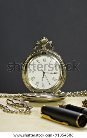 The old watch and the pen