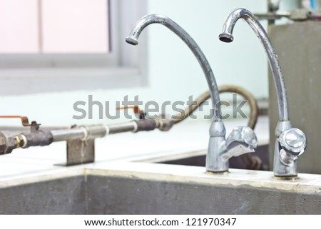The old water faucet