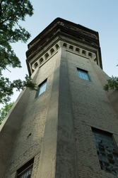 The old water tower. Construction of the early 20th century.