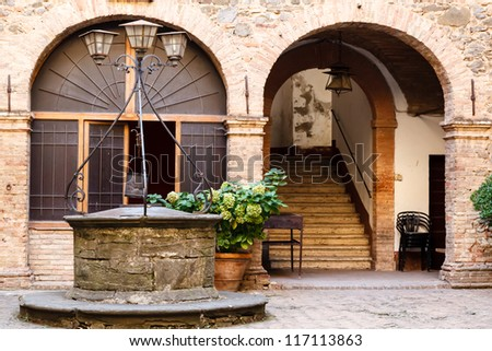 The Old Water Well in Montalcino, Tuscany, Italy