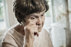 the old woman crying