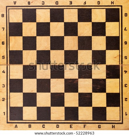the old wooden chessboard background for playing
