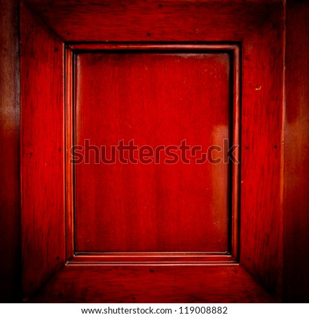 The old wooden red square background