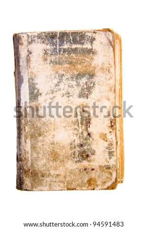 The old worn out book isolated on a white background
