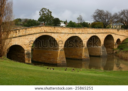 The oldest bridge in Australia.  Located in Richmond, Tasmania it was completed by convicts in 1825