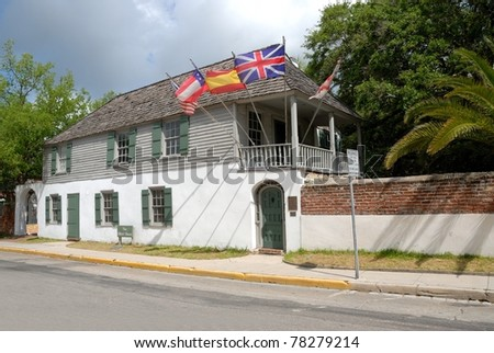 the Oldest House dated 1727 at historic St. Augustine, Florida Usa