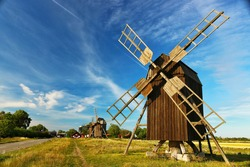 The oldest windmill line in the whole of Scandinavia. Lerkaka väderkvarnar are the windmill line in Öland, Sweden. The mills have been used to grind cereals, wheat and other pulses. Heritage site.