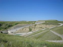 The Oldman River Hydroelectric Plant near Pincher Creek, Alberta, Canada