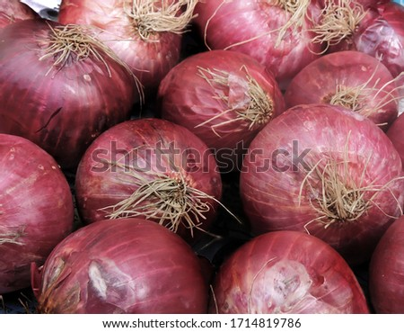 The onion is a vegetable that is the most widely cultivated species of the genus Allium.  Zdjęcia stock ©
