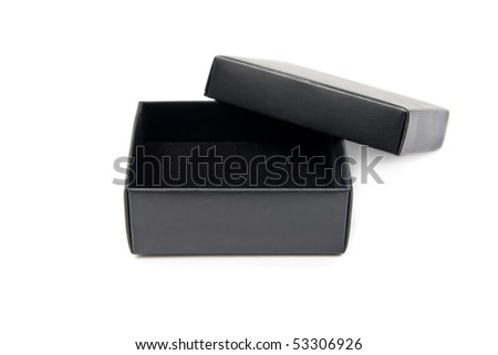 The open black box isolated on white background - stock photo