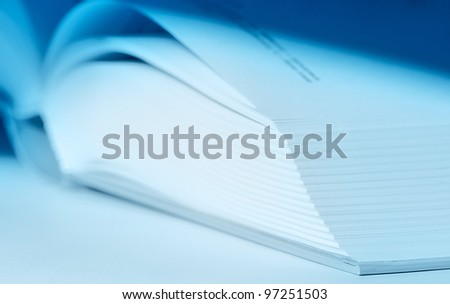 The open book close up. - stock photo
