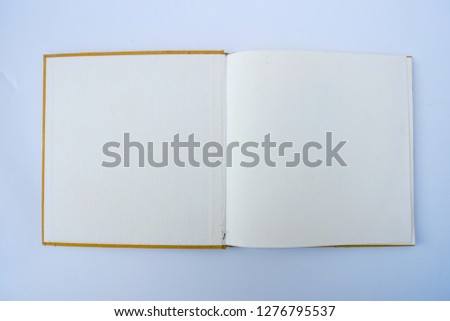Royalty-free Open notebook on a wooden table,blank
