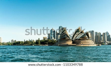 The Opera House and Sydney City. Sydney, NSW / Australia - May 2018. #1103349788