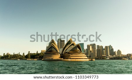 The Opera House in Sydney. Sydney, NSW / Australia - May 2018. #1103349773