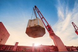 the operation of the vessel ship in loading discharging the general cargo heavy lift shipment in port terminal, the sea land transportation of the logistics system services to worldwild