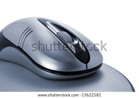 The optical mouse on a carpet