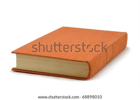 The orange book on a white background - stock photo