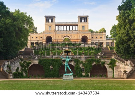 The Orangery Palace in Park Sanssouci, Potsdam, Germany