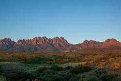The Organ Mountains of New Mexico under the desert sun