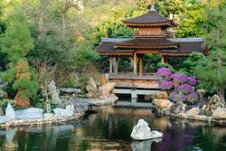The oriental pavilion of absolute perfection in Nan Lian Garden, Chi Lin Nunnery, Hong Kong