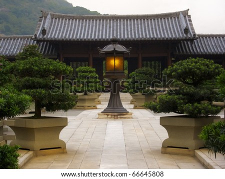 The oriental pavilion of absolute perfection in Nan Lian Garden, Chi Lin Nunnery, Hong Kong