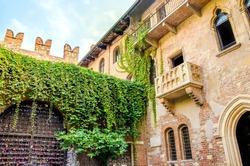 The original Romeo and Juliet balcony located in Verona, Italy