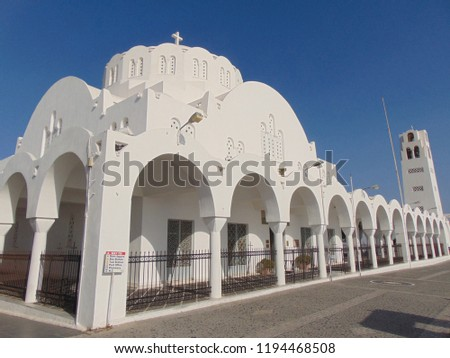 The Orthodox Metropolitan cathedral of Thira                        #1194468508