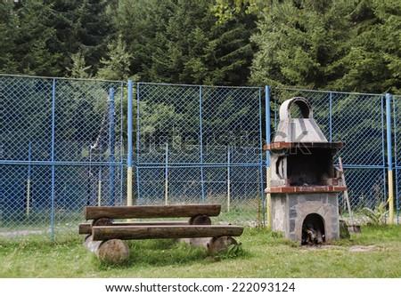 The outdoor kitchen in Vitosha mountain, Bulgaria