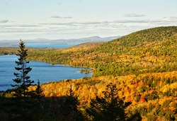 The overlook of Acadia national park