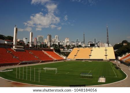 The Pacaembu Stadium (Estadio Municipal) in Sao Paulo, Brazil. Foto stock ©