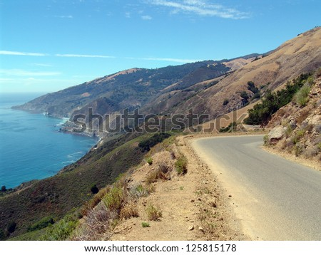 The Pacific Coast Highway in Big Sur, Northern California, also known as PCH