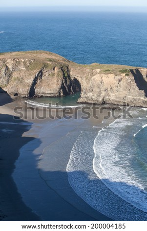 The Pacific Ocean has worn Northern California's coastline into dramatic scenery. Eroded rocks and secluded coves form impressive vistas that can be viewed from the Pacific Coast highway.