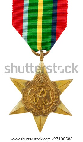The Pacific Star Second World War Medal