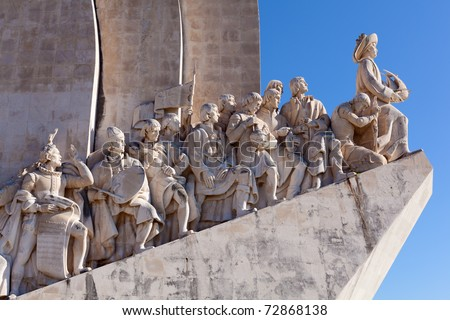 The Padrao dos Descobrimentos (Monument to the Discoveries) celebrates the Portuguese who took part in the Age of Discovery. It is located in the Belem district of Lisbon, Portugal