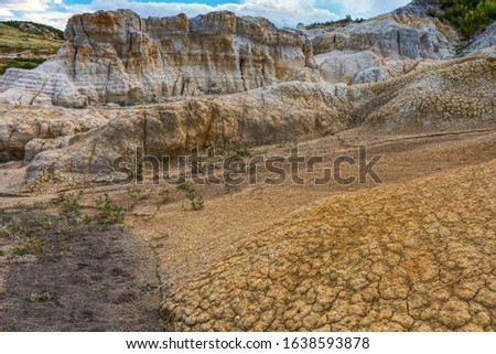 The Paint Mines of Calhan, Colorado is an interpretative natural site open to the public.  The area was a site used by local indigenous tribes for multiple applications for probable millenia. Zdjęcia stock ©