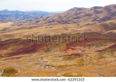 The Painted Hills National Monument has vibrant red hills in Eastern Oregon with fossil beds and historic significance.