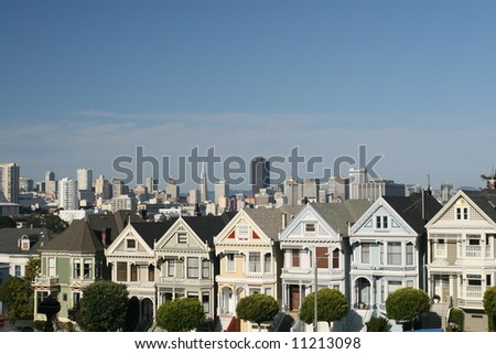 The Painted Ladies of San Francisco - stock photo