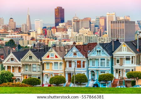 The Painted Ladies of San Francisco, California, USA. #557866381