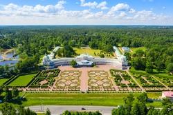 The Palace and Park ensemble Oranienbaum. The big Menshikov Palace in Lomonosov. Saint Petersburg.